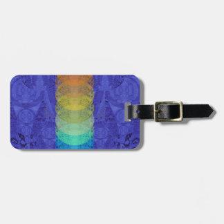 Etiqueta De Bagagem Design da tapeçaria de Chakra da ioga