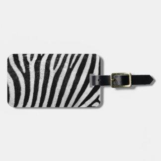 Etiqueta De Bagagem Design do abstrato da pele da zebra, Tag da