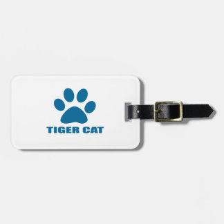ETIQUETA DE BAGAGEM DESIGN DO CAT DO CAT DE TIGRE