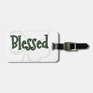 Etiqueta De Bagagem Design do dia de St Patrick abençoado