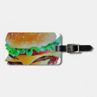 Etiqueta De Bagagem design do Hamburger, pintura original