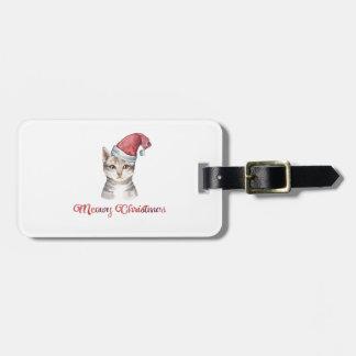 Etiqueta De Bagagem Design do Natal de Meowy para amantes do gato