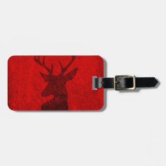 Etiqueta De Bagagem Design do veado vermelho