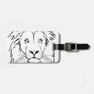 Etiqueta De Bagagem design do vetor do desenho do leão