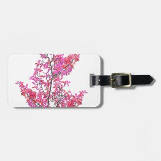 Etiqueta De Bagagem Design floral bonito colorido