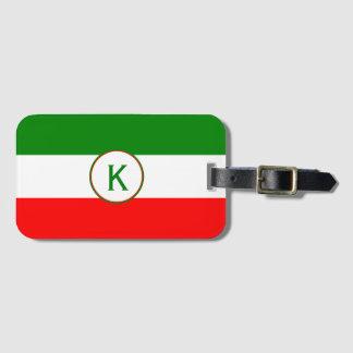 Etiqueta De Bagagem Design italiano da bandeira de Italia com suas