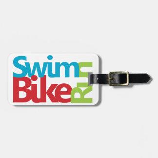 Etiqueta De Bagagem Design legal do Triathlon