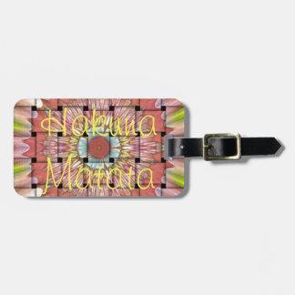 Etiqueta De Bagagem Design tecido agradável de Hakuna Matata e bonito