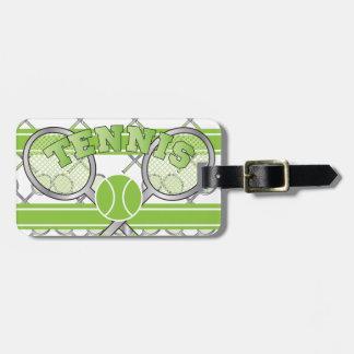 Etiqueta De Bagagem Design verde do tênis