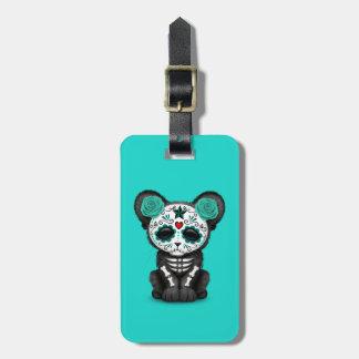 Etiqueta De Bagagem Dia azul da pantera preta inoperante Cub