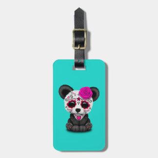 Etiqueta De Bagagem Dia cor-de-rosa da panda inoperante Cub
