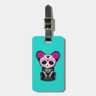 Etiqueta De Bagagem Dia cor-de-rosa da pantera preta inoperante Cub