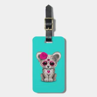 Etiqueta De Bagagem Dia cor-de-rosa do leão Cub inoperante
