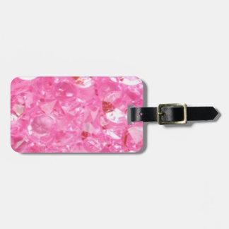 Etiqueta De Bagagem Diamantes cor-de-rosa
