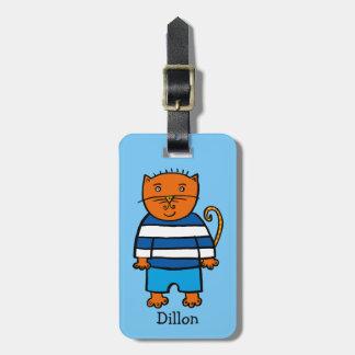 Etiqueta De Bagagem Dillon personalizado o gato