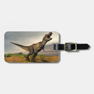 Etiqueta De Bagagem Dinossauro do rex do tiranossauro - 3D rendem