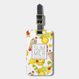 Etiqueta De Bagagem Divertimento das frutas e do gelado do verão