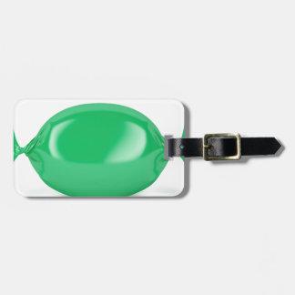Etiqueta De Bagagem Doces duros envolvidos verde