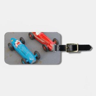 Etiqueta De Bagagem Dois carros do brinquedo do vintage