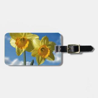 Etiqueta De Bagagem Dois Daffodils amarelos 2,2