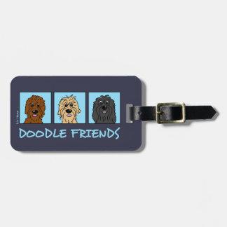 Etiqueta De Bagagem Doodle Friends