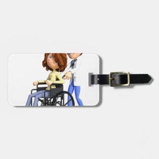 Etiqueta De Bagagem Doutor Wheeling Paciente Cadeira de rodas dos