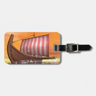 Etiqueta De Bagagem Drakkar ou navio de viquingue - 3D rendem