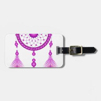 Etiqueta De Bagagem Dreamcatcher cor-de-rosa