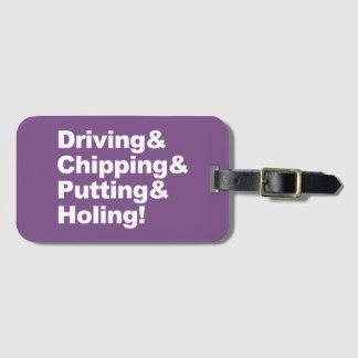 Etiqueta De Bagagem Driving&Chipping&Putting&Holing (branco)
