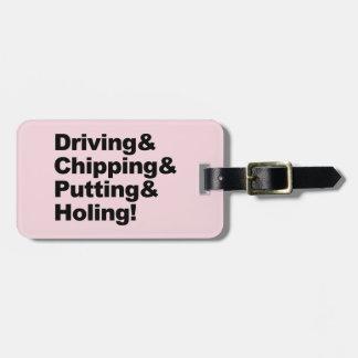 Etiqueta De Bagagem Driving&Chipping&Putting&Holing (preto)