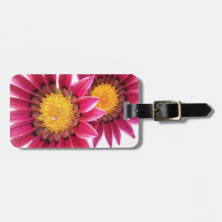 Etiqueta De Bagagem duas flores cor-de-rosa