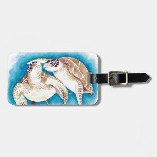 Etiqueta De Bagagem Duas tartarugas de mar