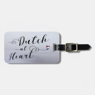 Etiqueta De Bagagem Dutch no modelo do Tag da bagagem do coração,