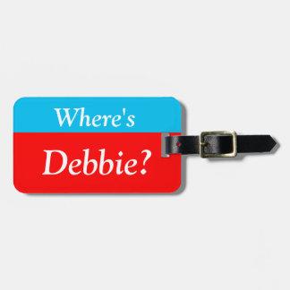 Etiqueta De Bagagem É personalizado onde (seu nome)? Tag da bagagem