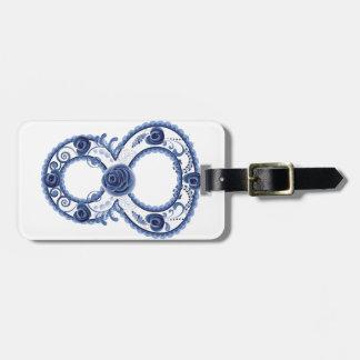 Etiqueta De Bagagem Eight2 floral azul