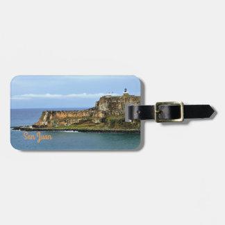 Etiqueta De Bagagem EL Morro que guarda a baía de San Juan
