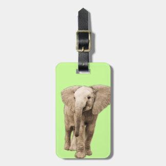 Etiqueta De Bagagem Elefante bonito do bebê