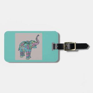 Etiqueta De Bagagem Elefante feliz