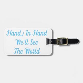 Etiqueta De Bagagem Em conjunto nós veremos o Tag da bagagem do mundo