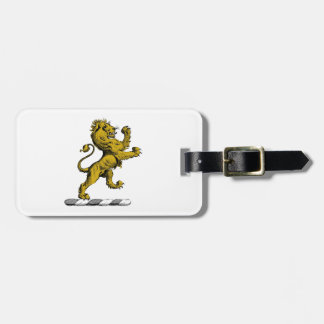 Etiqueta De Bagagem Emblema ereto C da crista do leão heráldico