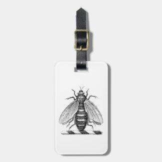Etiqueta De Bagagem Emblema heráldico formal da brasão da abelha do