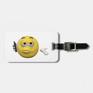 Etiqueta De Bagagem Emoticon do telefone