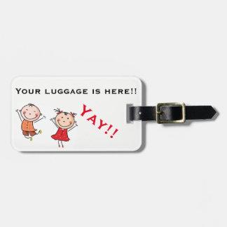 Etiqueta De Bagagem Engraçado e bonito nenhuma bagagem perdida