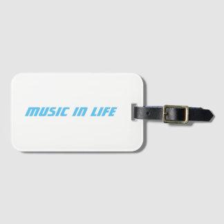 Etiqueta De Bagagem Entalhe de cartão de visita - música no logotipo