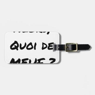 Etiqueta De Bagagem ENTÃO, QUAL DE MEUF? - Jogos de palavras