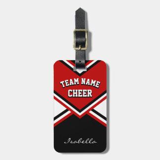 Etiqueta De Bagagem Equipamento do cheerleader na obscuridade -