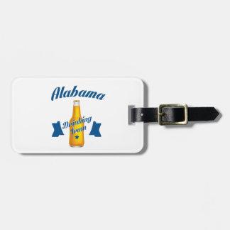 Etiqueta De Bagagem Equipe do bebendo de Alabama