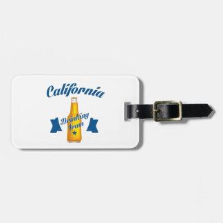 Etiqueta De Bagagem Equipe do bebendo de Califórnia