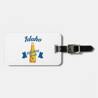 Etiqueta De Bagagem Equipe do bebendo de Idaho