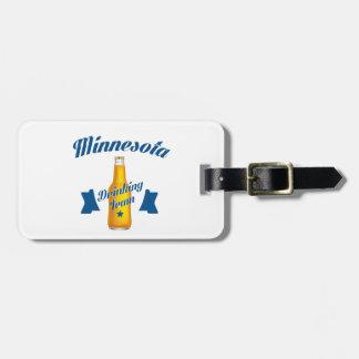 Etiqueta De Bagagem Equipe do bebendo de Minnesota